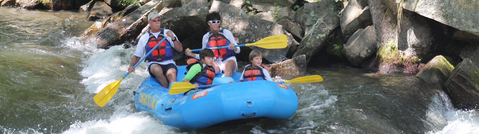 non guided nantahala whitewater rafting