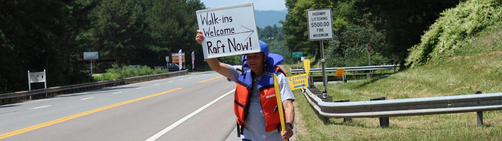 Ocoee rafting trip walk-ins welcome
