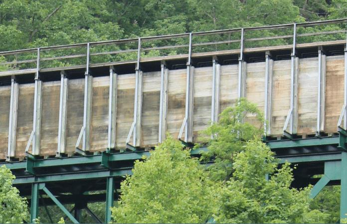 Ocoee river flume line