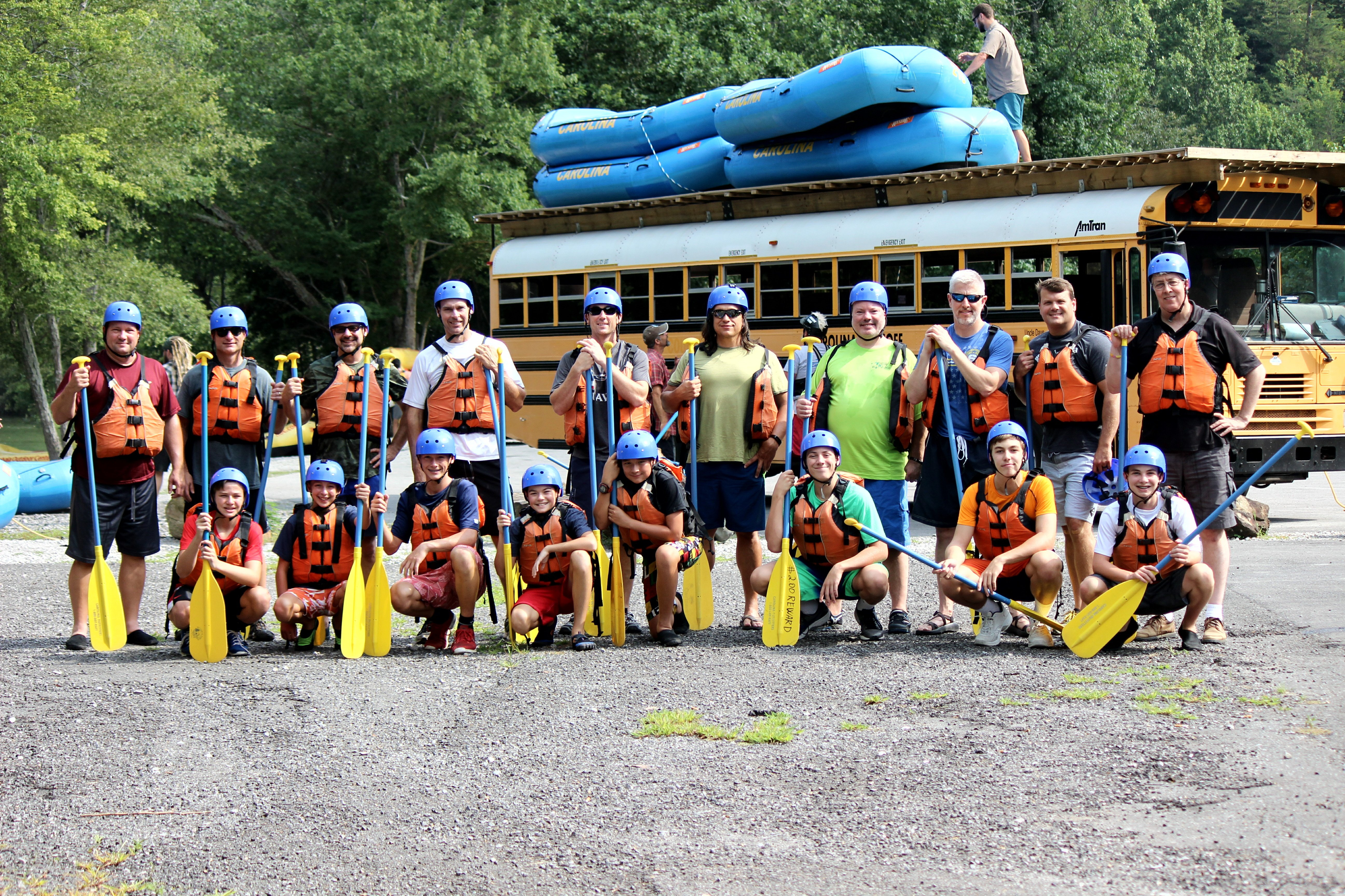 Boy Scouts Rafting