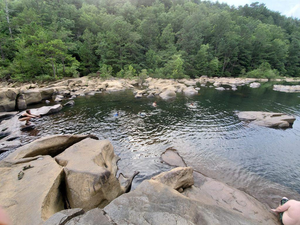 Blue Hole swimming on the Ocoee River
