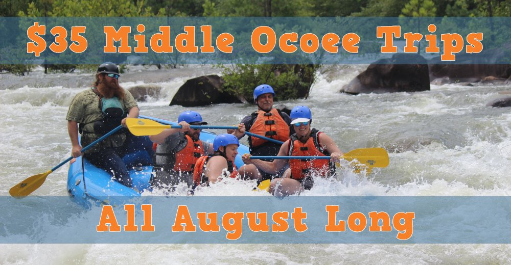 middle ocoee river august special
