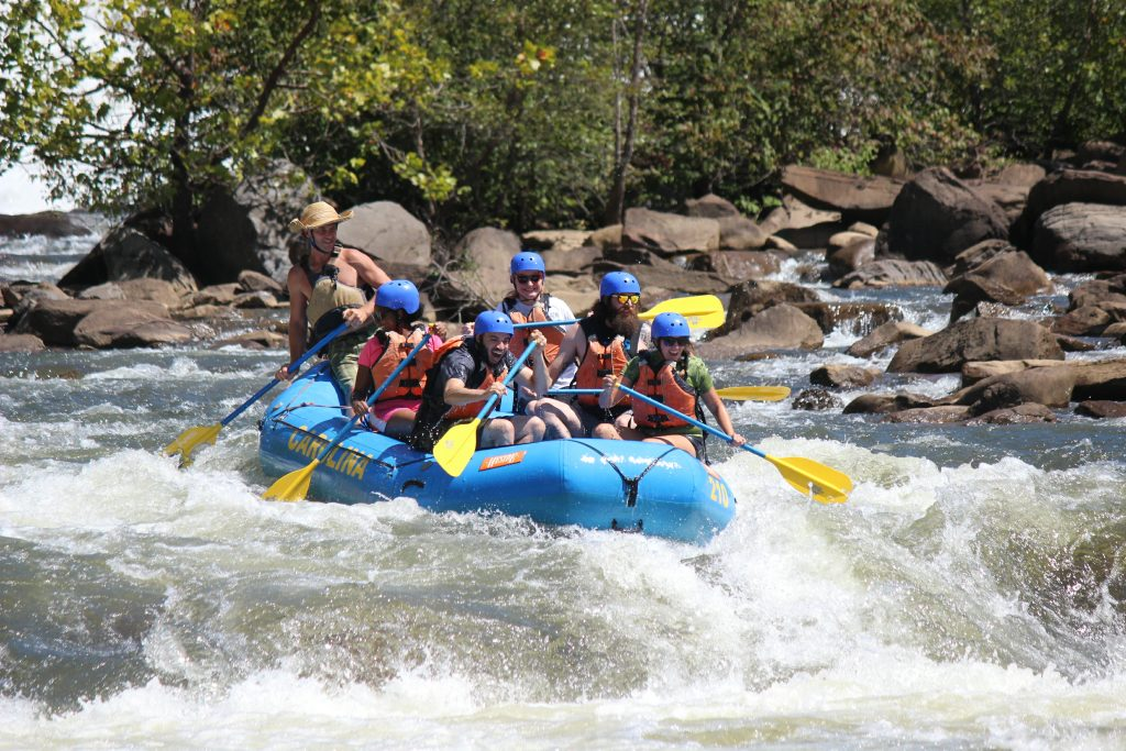 Rafting Near Huntsville, Alabama on the Ocoee River.