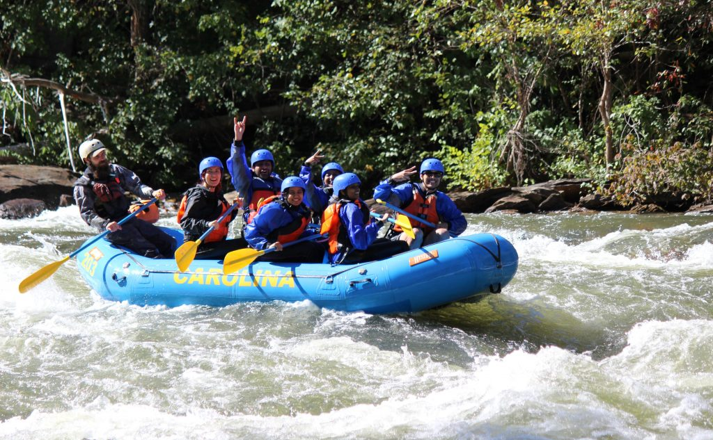 What to wear rafting.